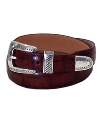Alpine Croco Belt - Honey by Brighton (Sizes 32-42)