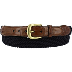 Navy Stretch Belt by Brighton (Sizes 32-42)