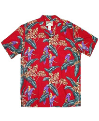 Jungle Bird Shirt by Paradise Found - Red