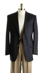 Tropical Wool Navy Blazer