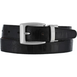Reversible Croco-Look Belt by Brighton  - Black-Peanut (Sizes 32-46)
