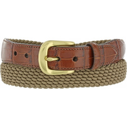 Khaki Stretch Belt by Brighton (Sizes 32-42)