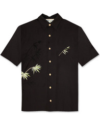 Flying Bamboo Embroidered Polynosic Shirt by Bamboo Cay - WB2006D - BLACK