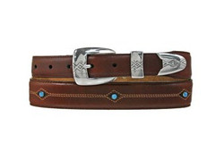 Cody Turquoise Taper Belt - Brown by Brighton (Sizes 32-46)