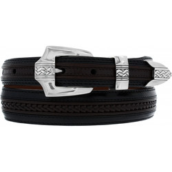 Pinon Hills Belt by Brighton - Black-Brown (Sizes 32-44)