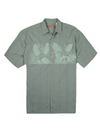 Chest BOP Embroidered Polynosic Camp Shirt by Bamboo Cay - WB749 - OCEAN