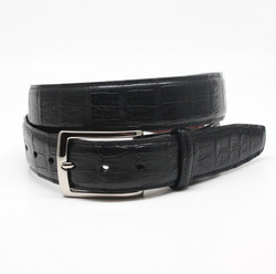 South American Caiman Belt by Torino Leather - Black