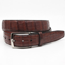 South American Caiman Belt by Torino Leather - Cognac