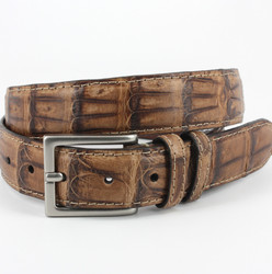 South American Caiman Belt by Torino Leather - Saddle