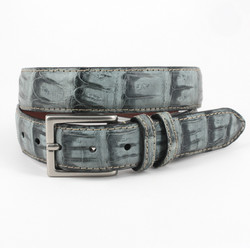 South American Caiman Belt by Torino Leather - Grey