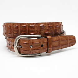 Hornback Crocodile Belt by Torino Leather - Saddle