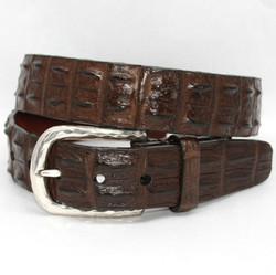 Hornback Crocodile Belt by Torino Leather - Brown