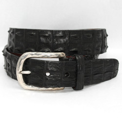 Hornback Crocodile Belt by Torino Leather - Black