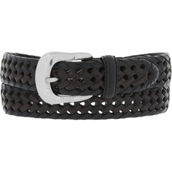 Burma Laced Woven Belt by Brighton - Black/Brown (Sizes 32-42)