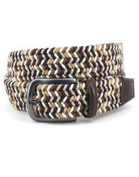 Italian Woven Rayon Stretch Belt by Torino Leather - Multi