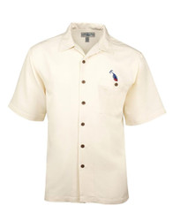 Crossing Rods Embroidered Shirt by Hook & Tackle