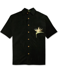 All Star Bird of Paradise Embroidered Polynosic Camp Shirt by Bamboo Cay