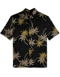 Petra Palms Cotton Sateen Shirt by Bamboo Cay - CM900 - Black