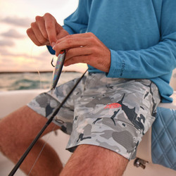 "Aftco Camo Original Fishing Shorts - 6"" Inseam"