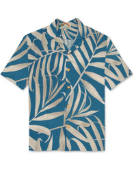 Palm Fronds by Paradise Found - Blue
