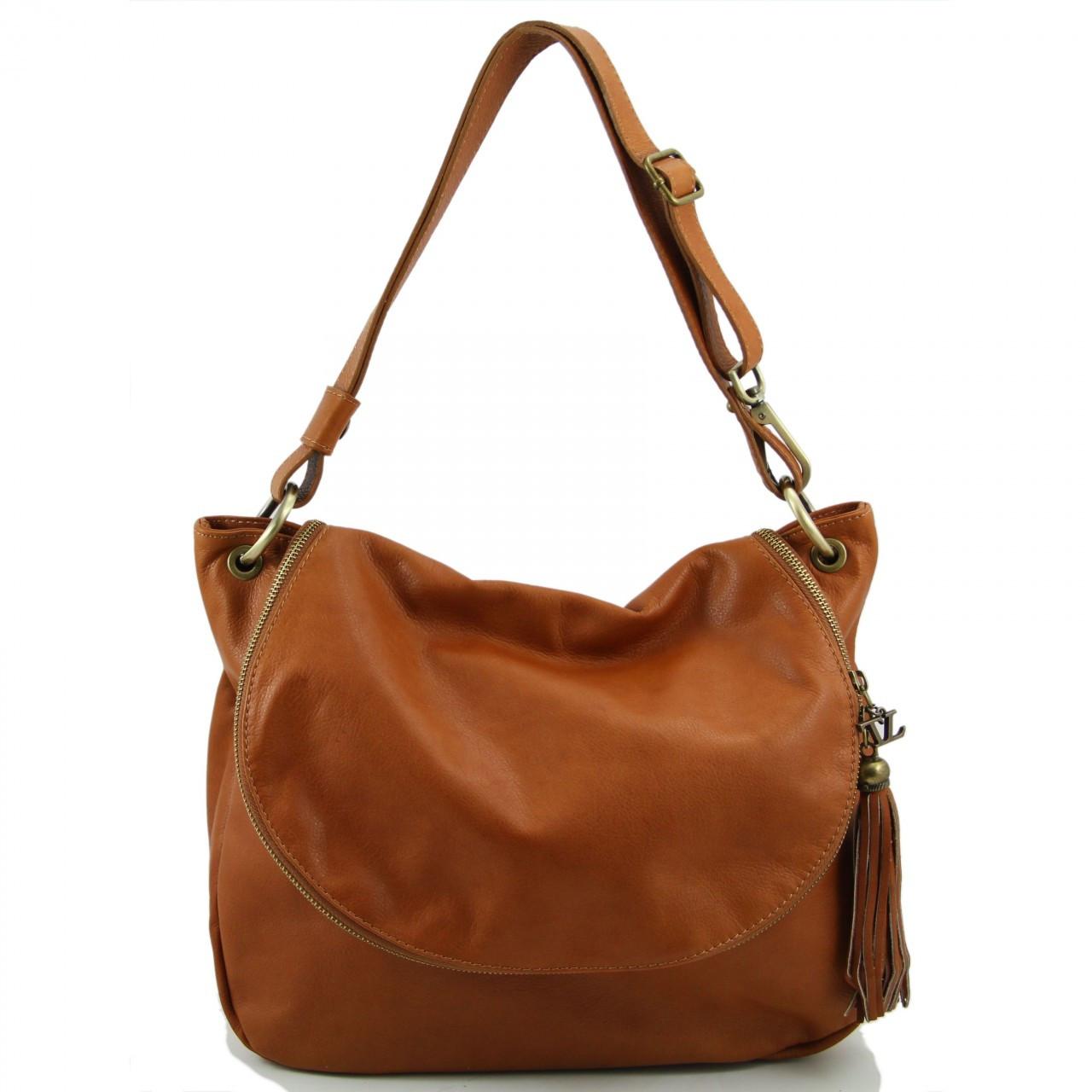d501e4e3075e TL Bag - Soft Leather Shoulder Bag with Tassel Detail - Rachel Verapelli