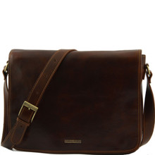 8a15eee8deea Messenger - Freestyle Leather Bag - Large Size - Brown