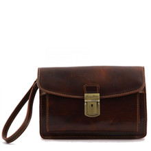 7e36a1cb795f Tuscany Leather - Max - Leather Handy Wrist Bag - Brown