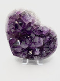 Large Gorgeous  Heart Shape AAA Grade URUGUAYAN AMETHYST CRYSTAL CLUSTER GEODE very unique beautiful dark purple colour.1870g H13cm W15cm Comes with Stand