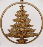 Christmas Tree Amber Mandela and magnet decoration ornament 15cm