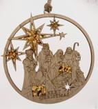 Nativity Amber Mandala and magnet decoration ornament 11cm