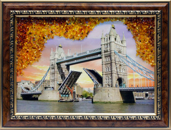 Decorated with the finest amber| hand made by a professional artist painter