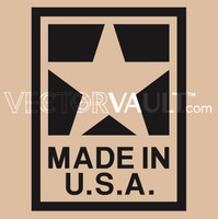 image free vector made in the USA America label