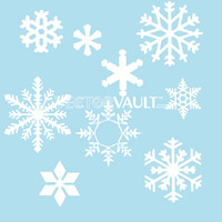 image free vector snowflakes