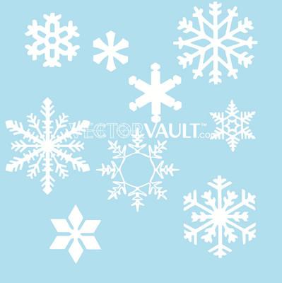 image free vector snowflakes