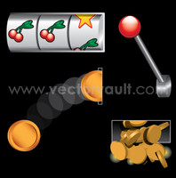 buy vector slot machine online gambling graphics jack pot