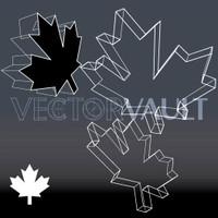 Buy Vector Wireframe Maple Leaf free vectors