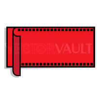 Buy Vector film strip with a curl logo graphic Image search find buy free vectors - Vectorvault