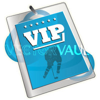 Buy Vector VIP hockey pass lanyard logo graphic Image search find buy free vectors - Vectorvault