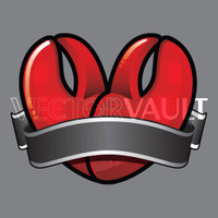 Buy Vector love lobster claws heart logo graphic Image search find buy free vectors - Vectorvault