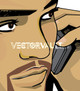 Vector man on mobile cell phone illustration face
