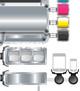 vector strong modular idea flowchart mobile