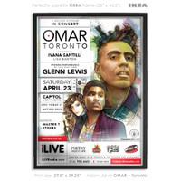buy fan poster omar toronto concert poster ivana santilli glenn lewis adam jarvis ilive radio