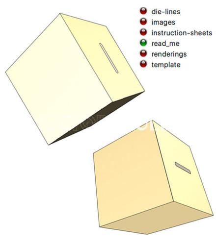 Ballot Box - Die Line