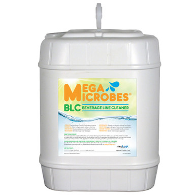 Beverage Line Cleaner in a compact 5-gallon container, ideal for storage and longer servicing period.