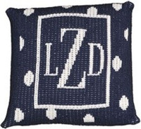 Custom Personalized Knit Pillow - Stacked Initial