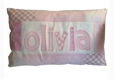 Baby Pillows - Patchwork Girl Pillow