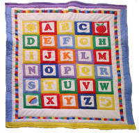 Custom Personalized Handmade Baby Quilt-ABC blocks