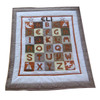 Custom ABC Quilt | Chocolate Brown