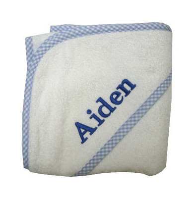 3 Marthas Personalized Hooded Baby Towel - Blue