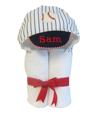3 Marthas Baseball Towel -  Personalized Baby Gift